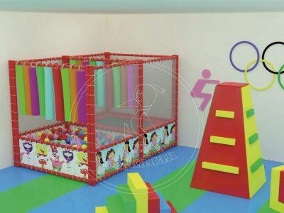 Anaokulu Mobilyası Top Oyun Havuzu Ve Tırmanma Parkuru
