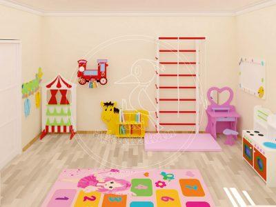 Ev Konseptli çocuk Odası